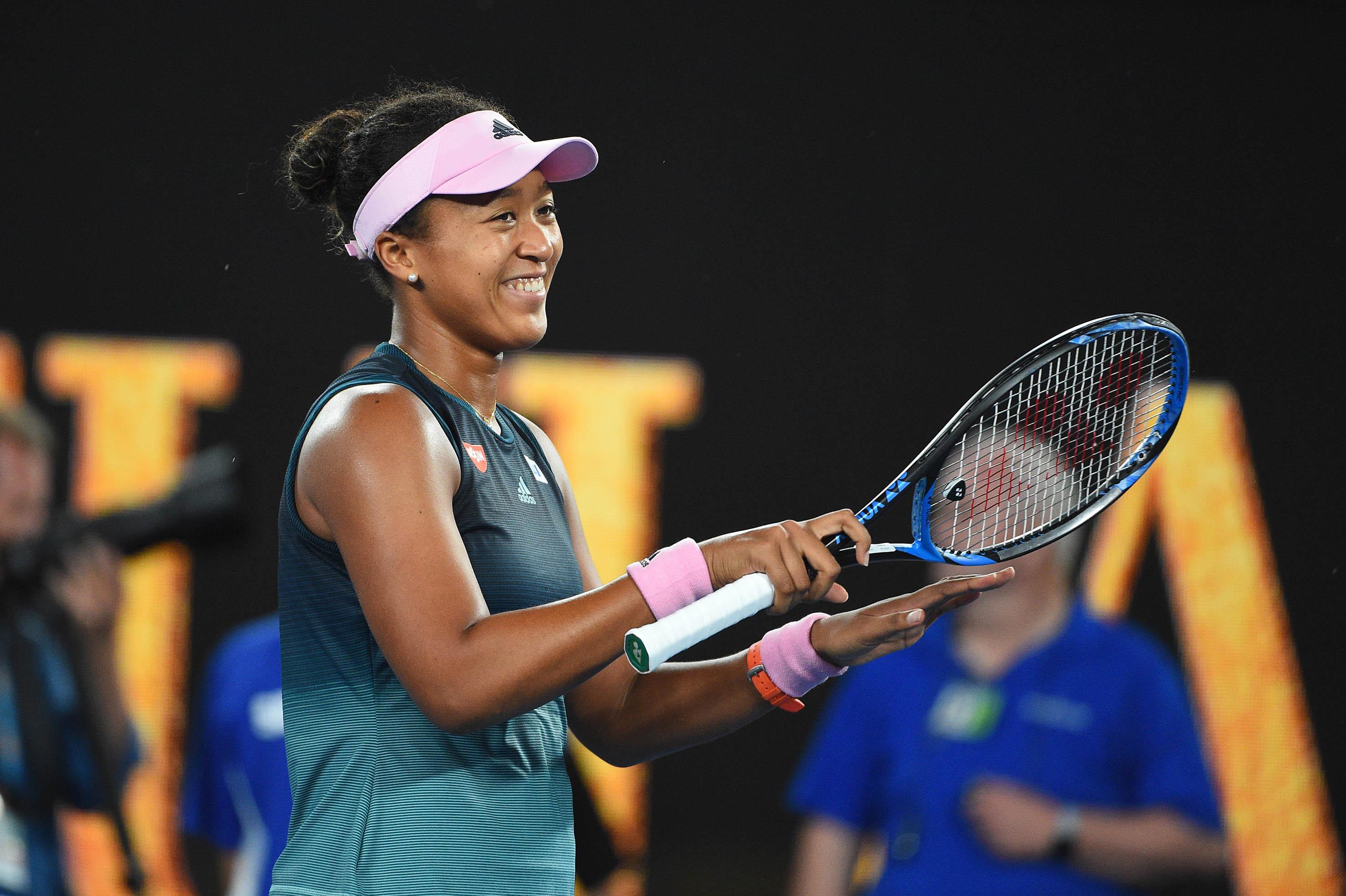 The moment when Naomi Osaka realises she has just won the 2019 Australian Open