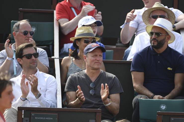 Woody Harrelson at Roland-Garros 2018