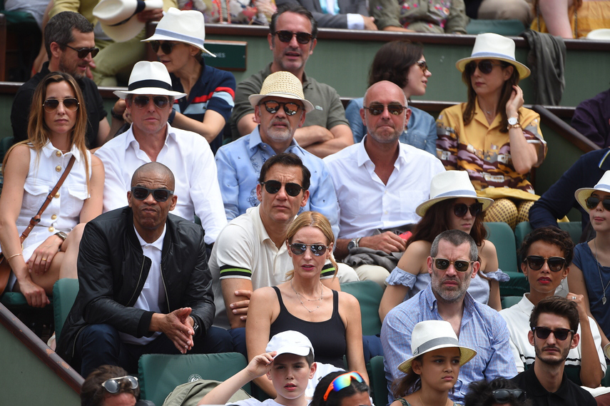 Hugh Grant, Clive Owen, Jalil Lespert, Pierre Niney at Roland-Garros 2018