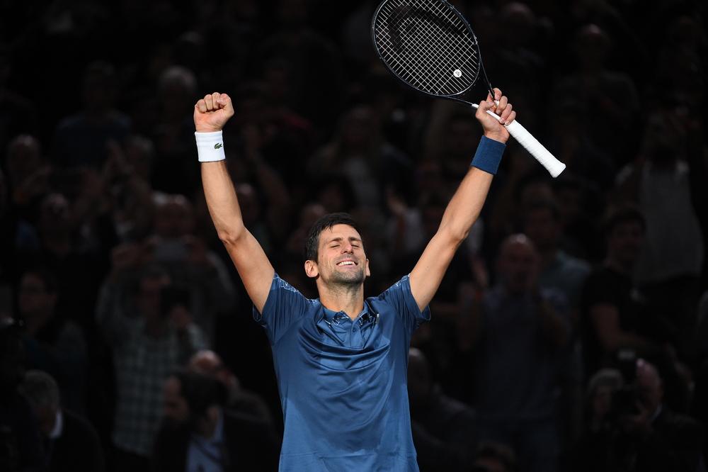 Novak Djokovic Rolex Paris Masters 2018