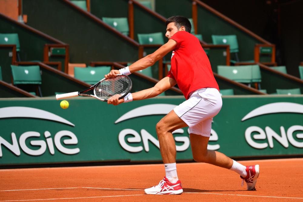 Roland Garros 2018, Novak Djokovic, entraînement, practice