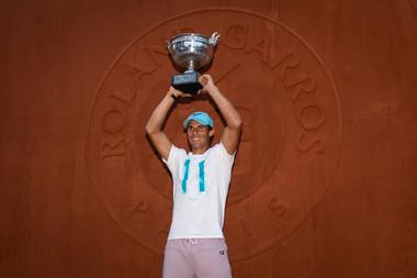 Rafael Nadal trophée Roland-Garros 2018