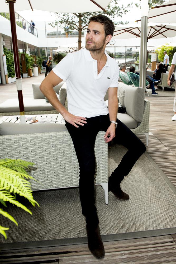 Actor Paul Wesley Roland-Garros 2019
