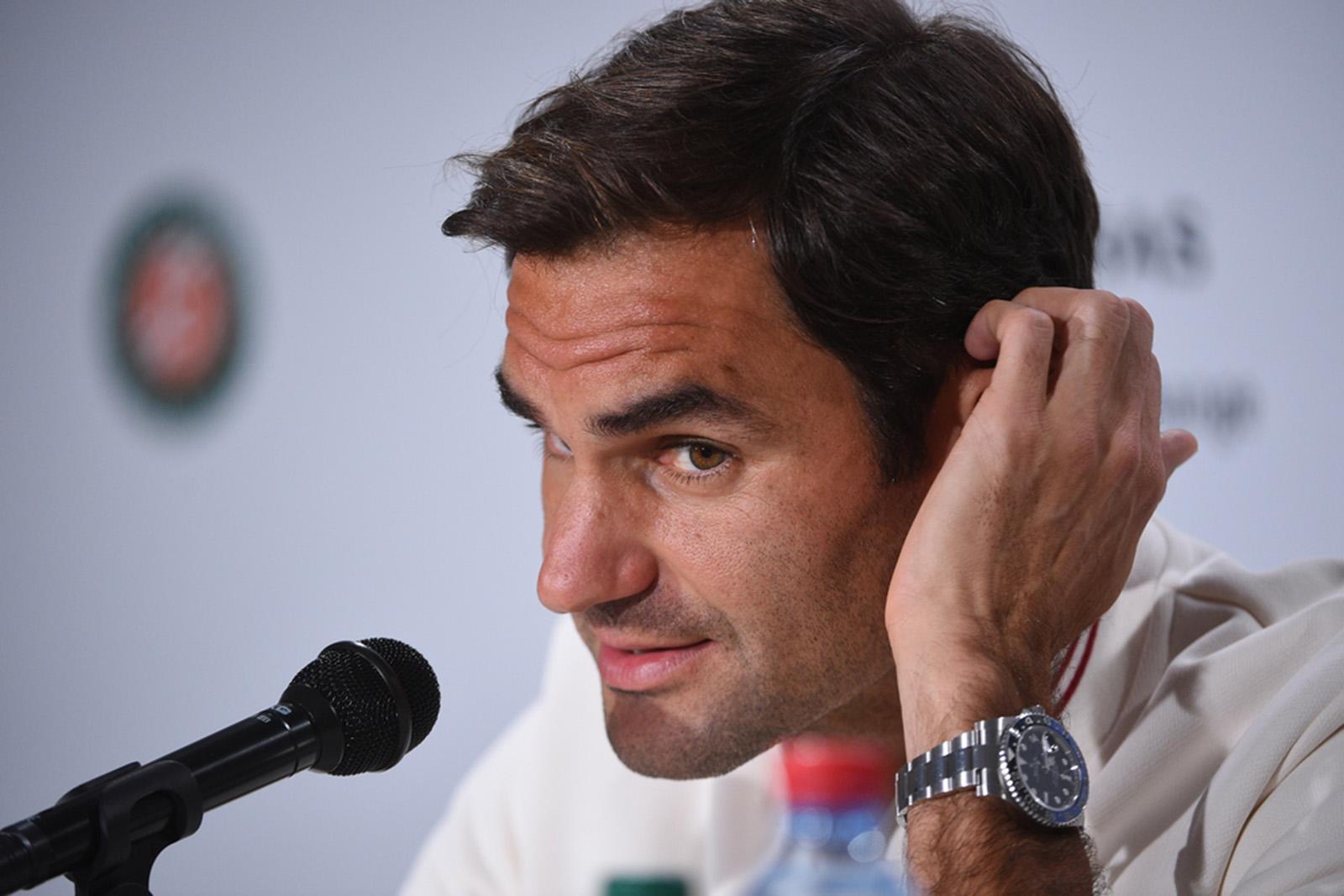 Roger Federer media day