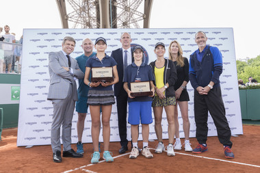 Longines Future Tennis aces Paris Roland-Garros in the City Eiffel tower.