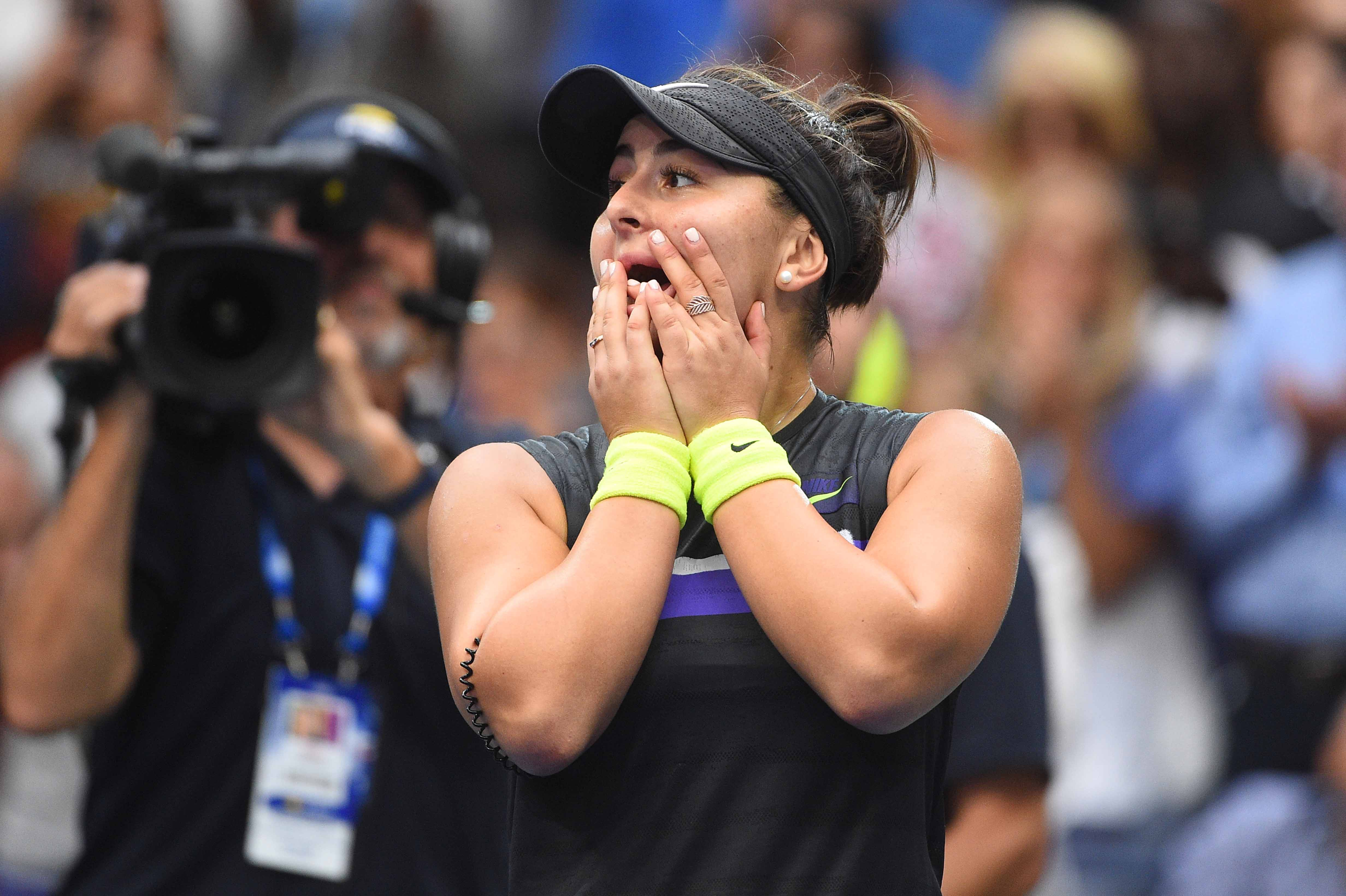 Bianca Andreescu not believing she just won the 2019 US Open