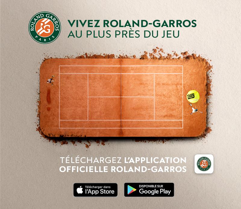 Téléchargement de l'application Roland-Garros 2019