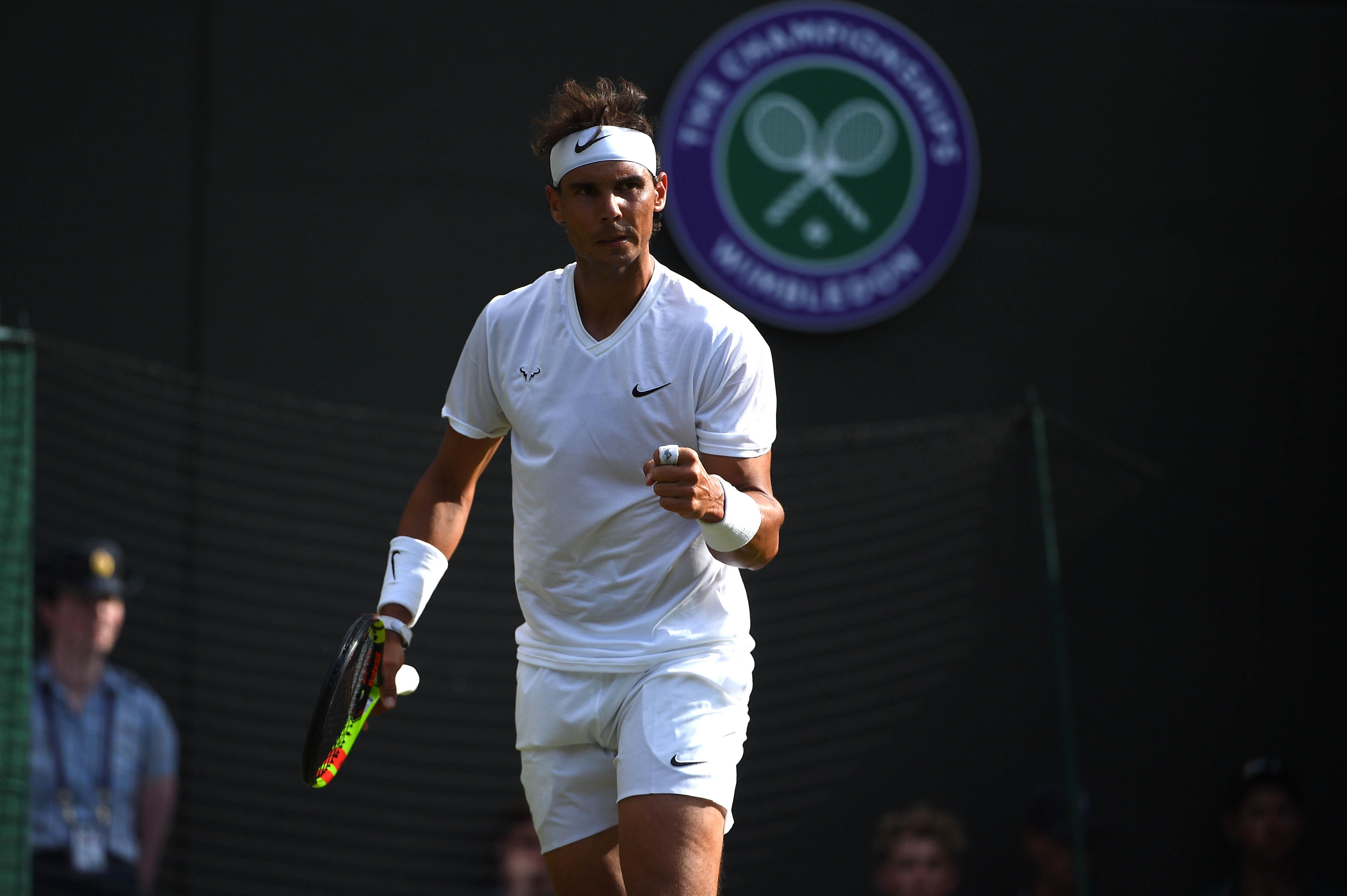 Rafael Nadal wins his first round at Wimbledon 2019