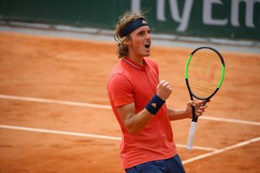 Stefanos Tsitsipas at Roland-Garros 2018