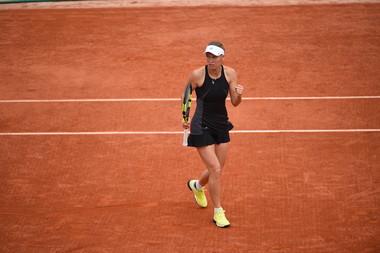 Caroline Wozniacki during Roland-Garros 2018