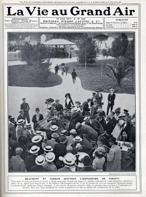 Roland Garros aviateur Vie au grand air 1911.