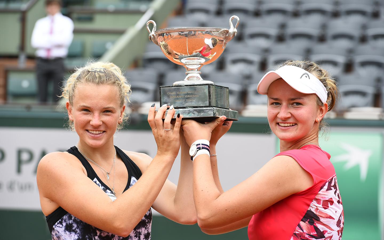 Double dames, Katerina Siniakova et Barbora Krejcikova, Roland-Garros 2018
