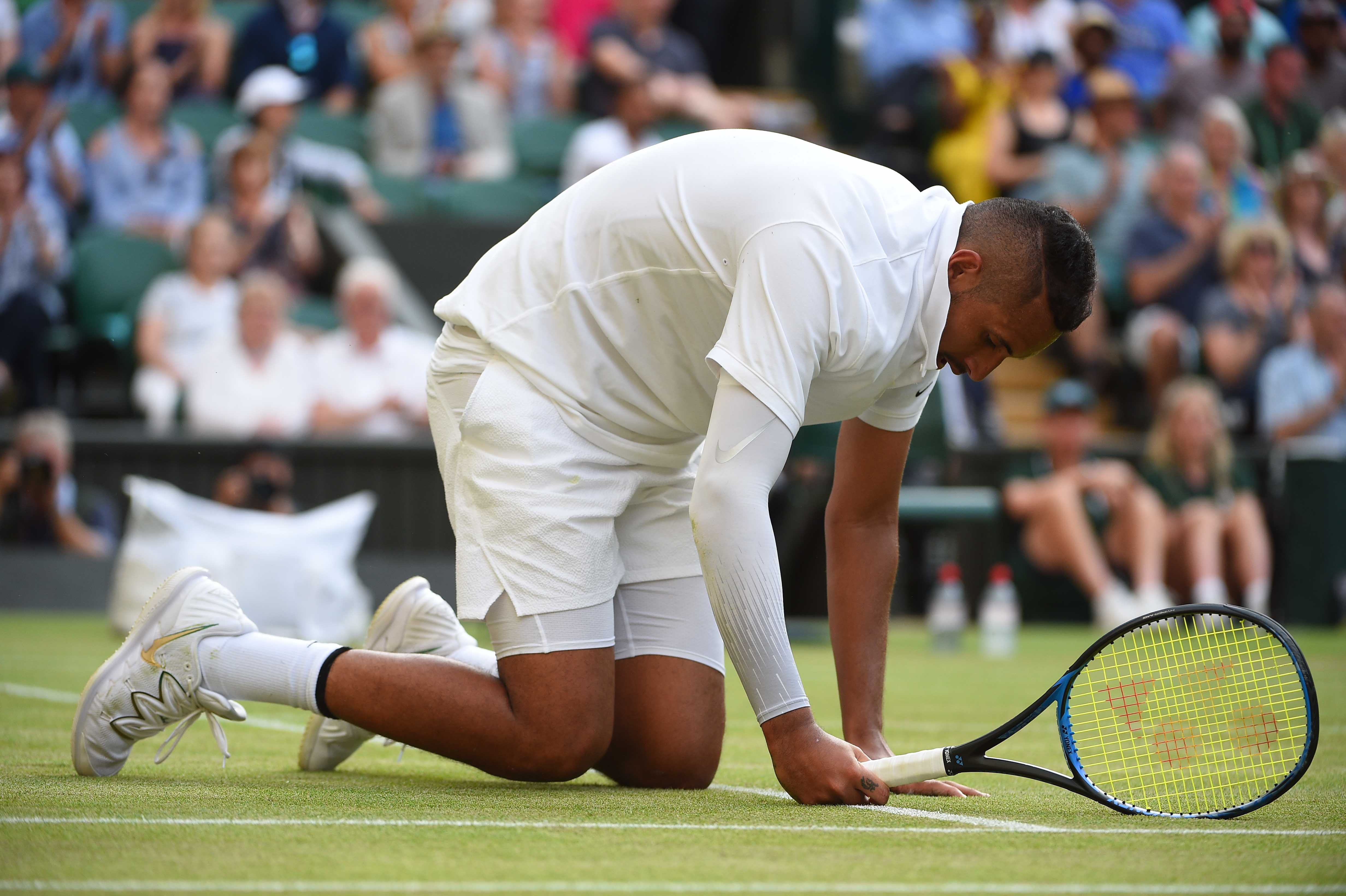 Nick Kyrgios at Wimbledon 2019