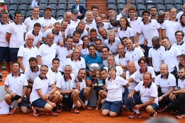 Rafael Nadal FFT staff Roland-Garros 2018