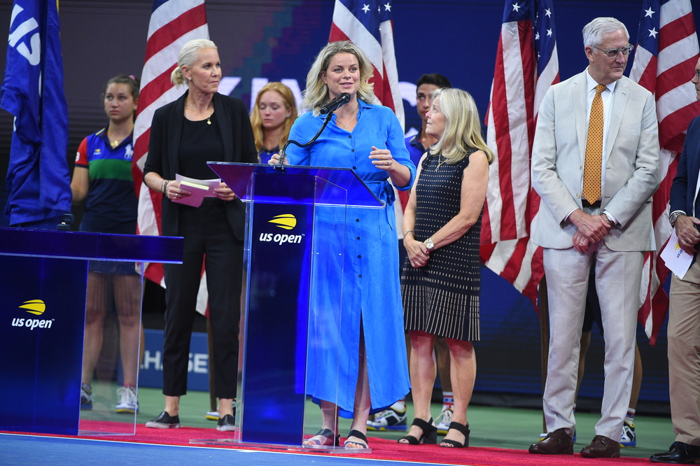 Kim Clijsters inducted to the US Open Court of Champions.