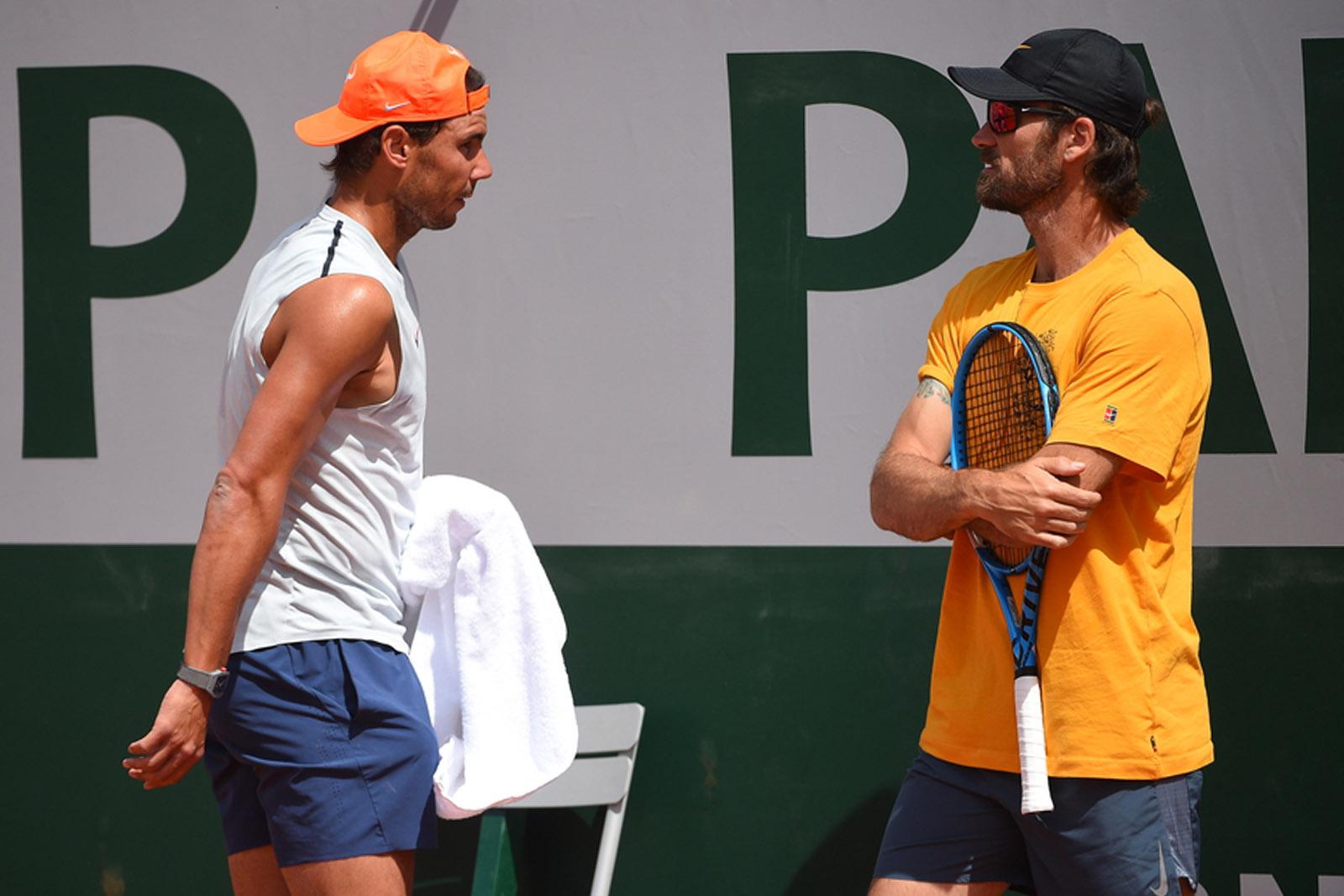 Rafael Nadal - Carlos Moya - Roland-Garros 2019 - court Suzanne-Lenglen