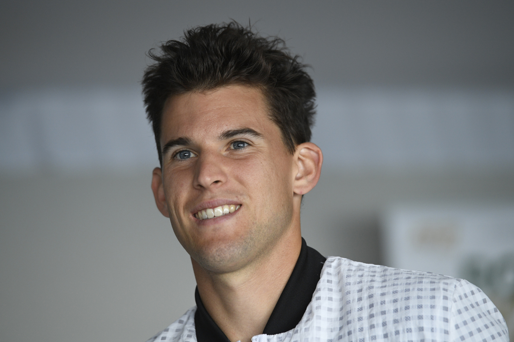 Dominic Thiem smiling during the media day at the 2019 Rolex Monte-Carlo Masters.