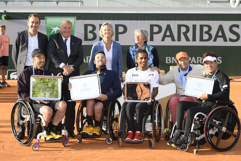 Quad wheelchair doubles finalists