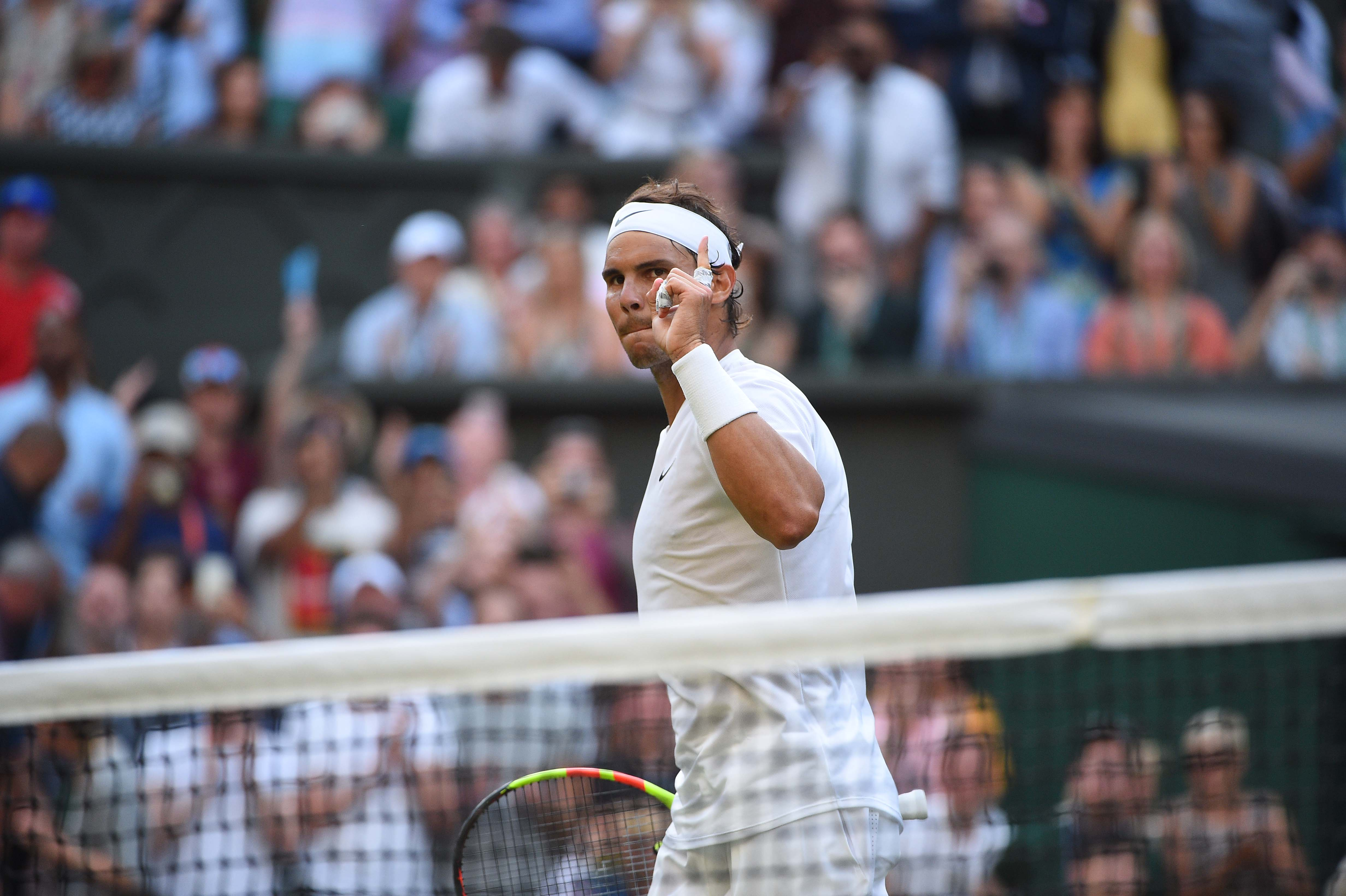 Rafael Nadal happy and relieved after winning against Nick Kyrgios at Wimbledon 2019