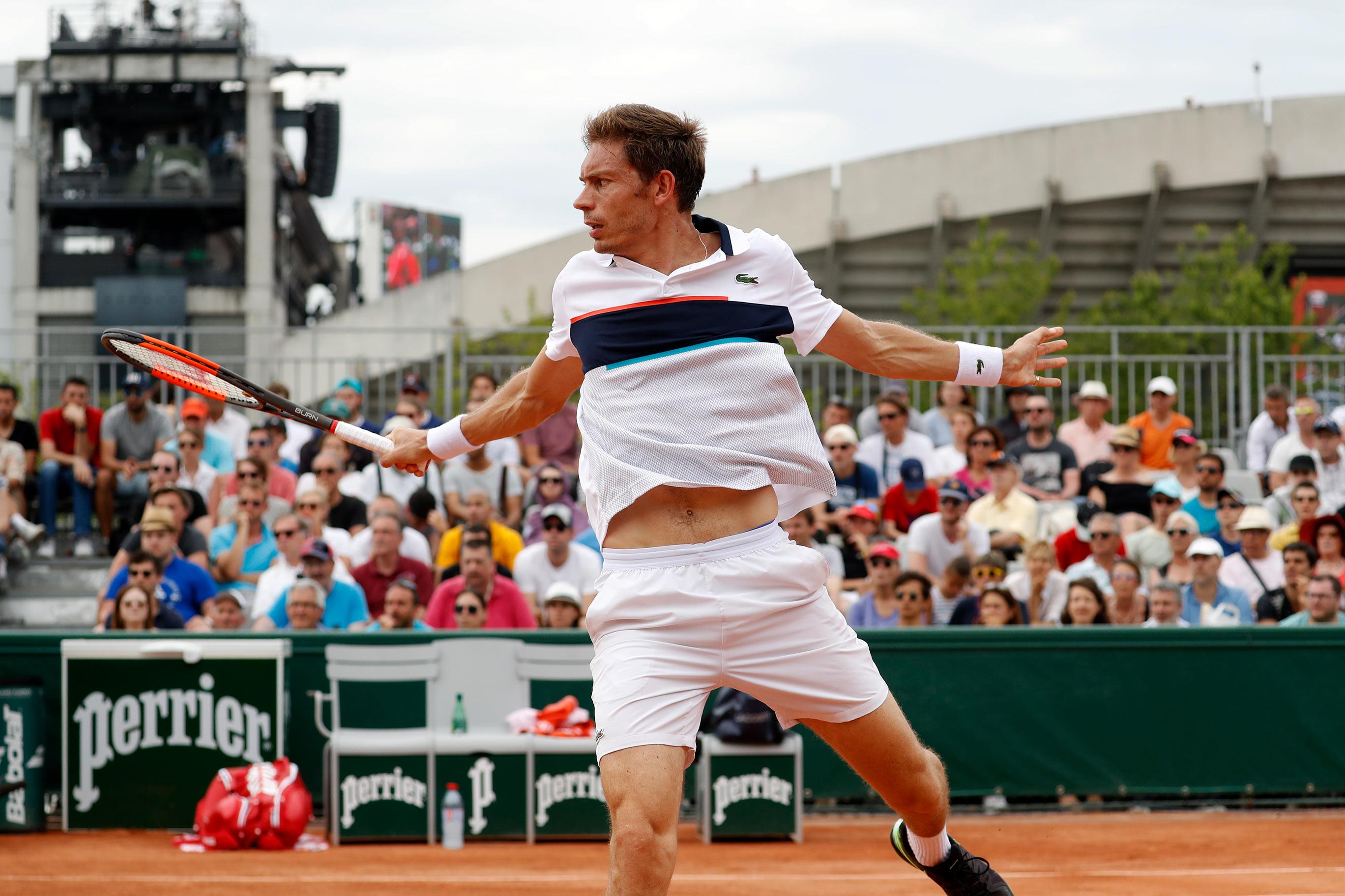 Nicolas Mahut à Roland-Garros 2017.