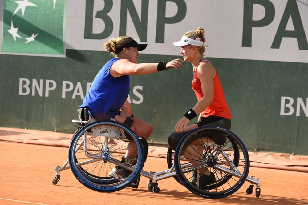Aniek Van Koot et Diede de Groot double dames tennis fauteuil Roland-Garros 2019