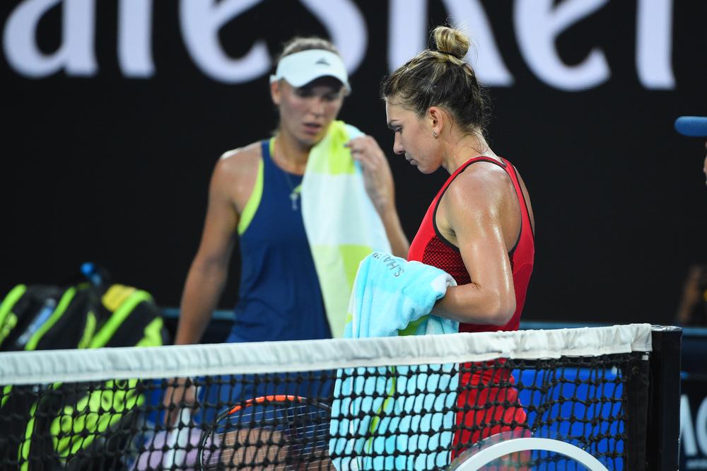 Caroline Wozniacki et Simona Halep Open d'Australie 2018