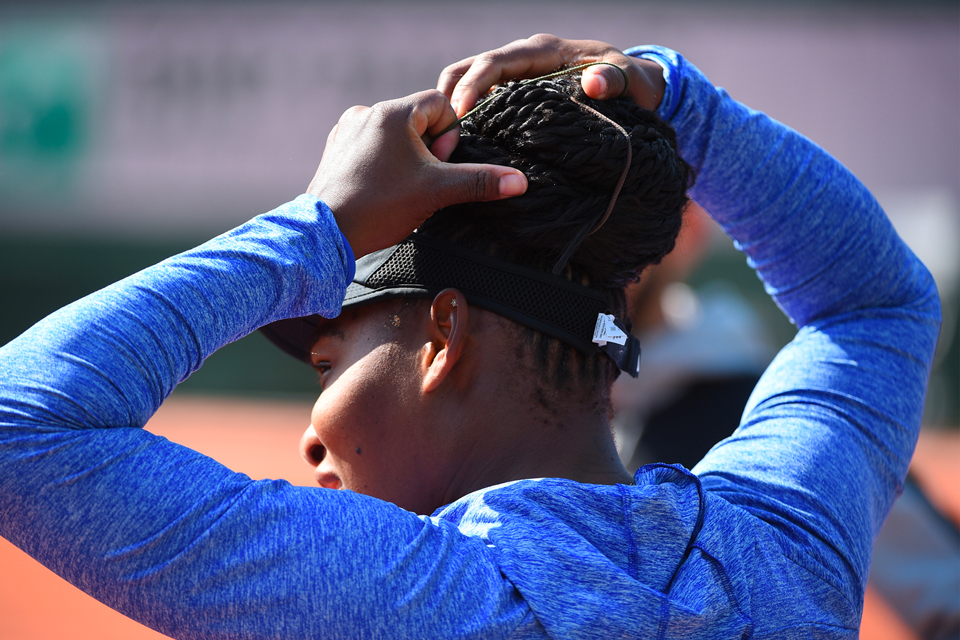 Serena Williams entraînement / practice Roland-Garros 2018