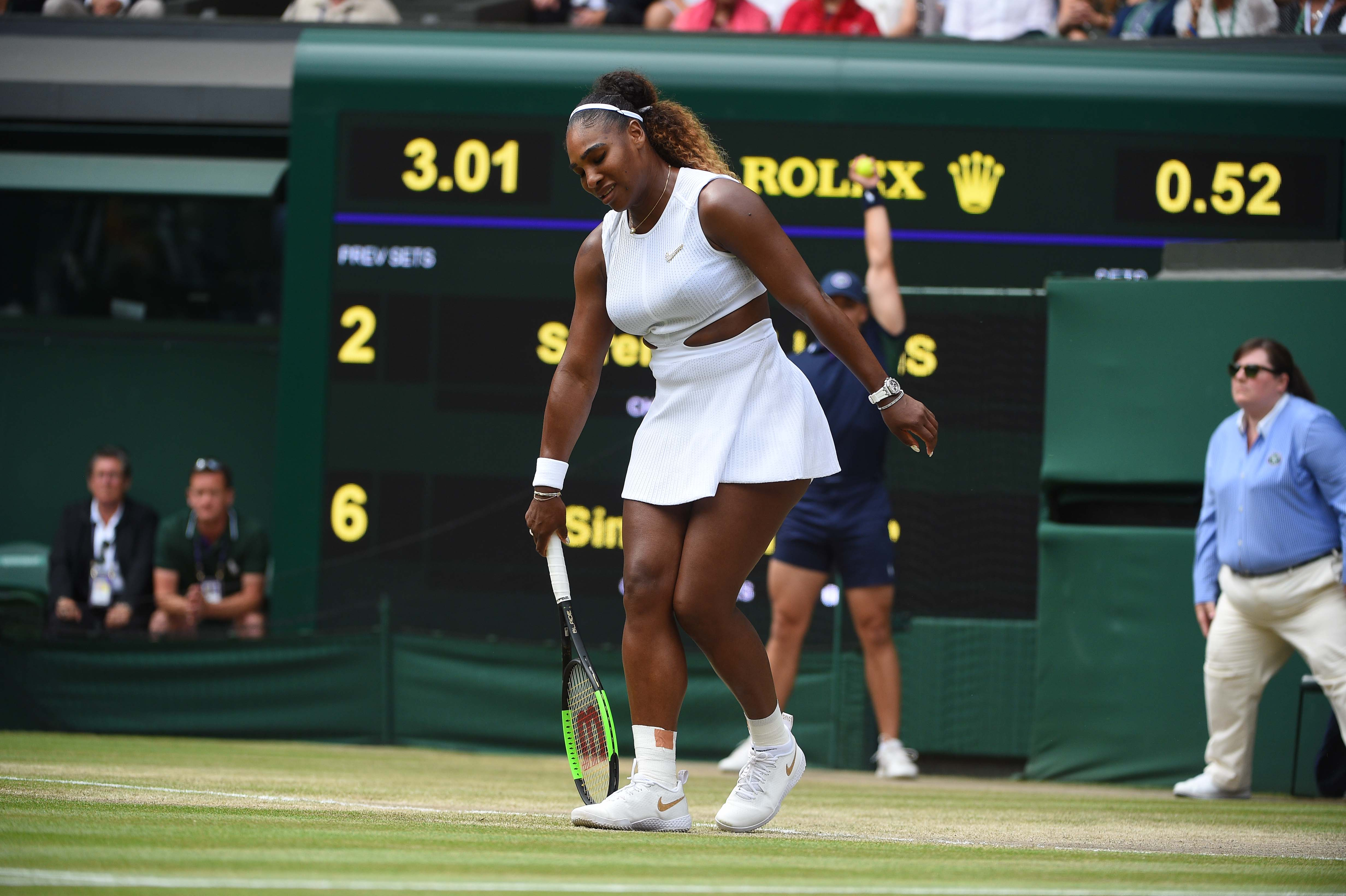 Disconcerted Serena Williams at Wimbledon 2019