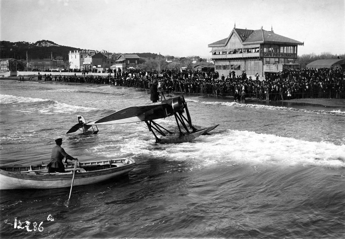 Roland Garros rallye de Monaco 1914.