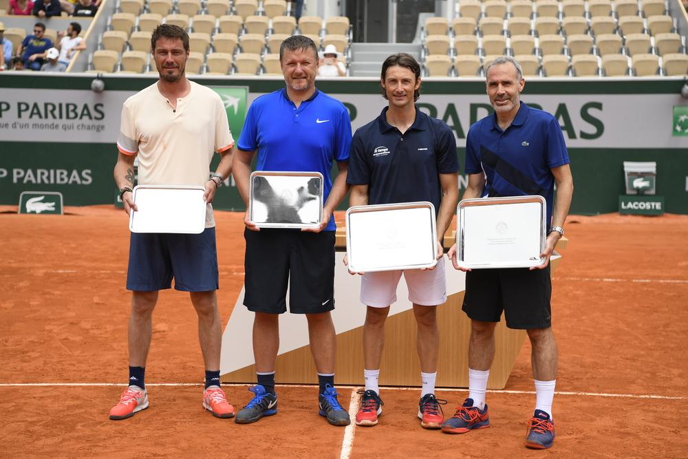 Marat Safin Yevgeni Kafelnokov, Juan Carlos Ferrero, Alex Corretja Trophée des Légendes 2018