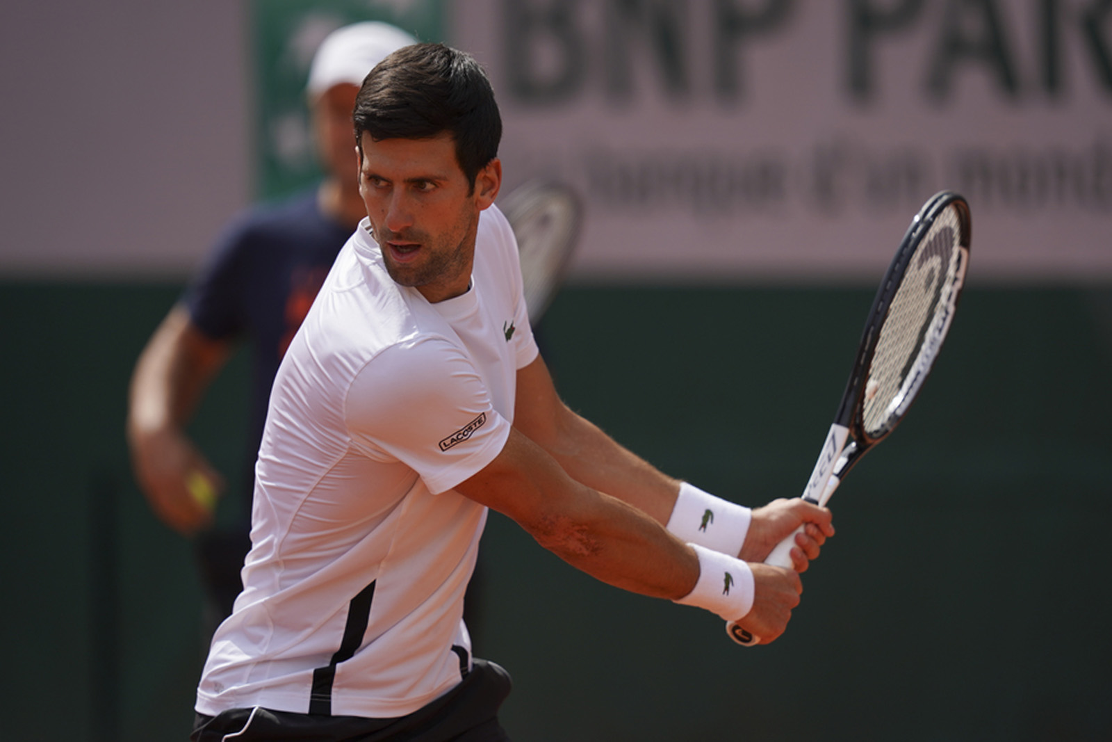 Novak Djokovic - Roland-Garros 2019 - entraînement