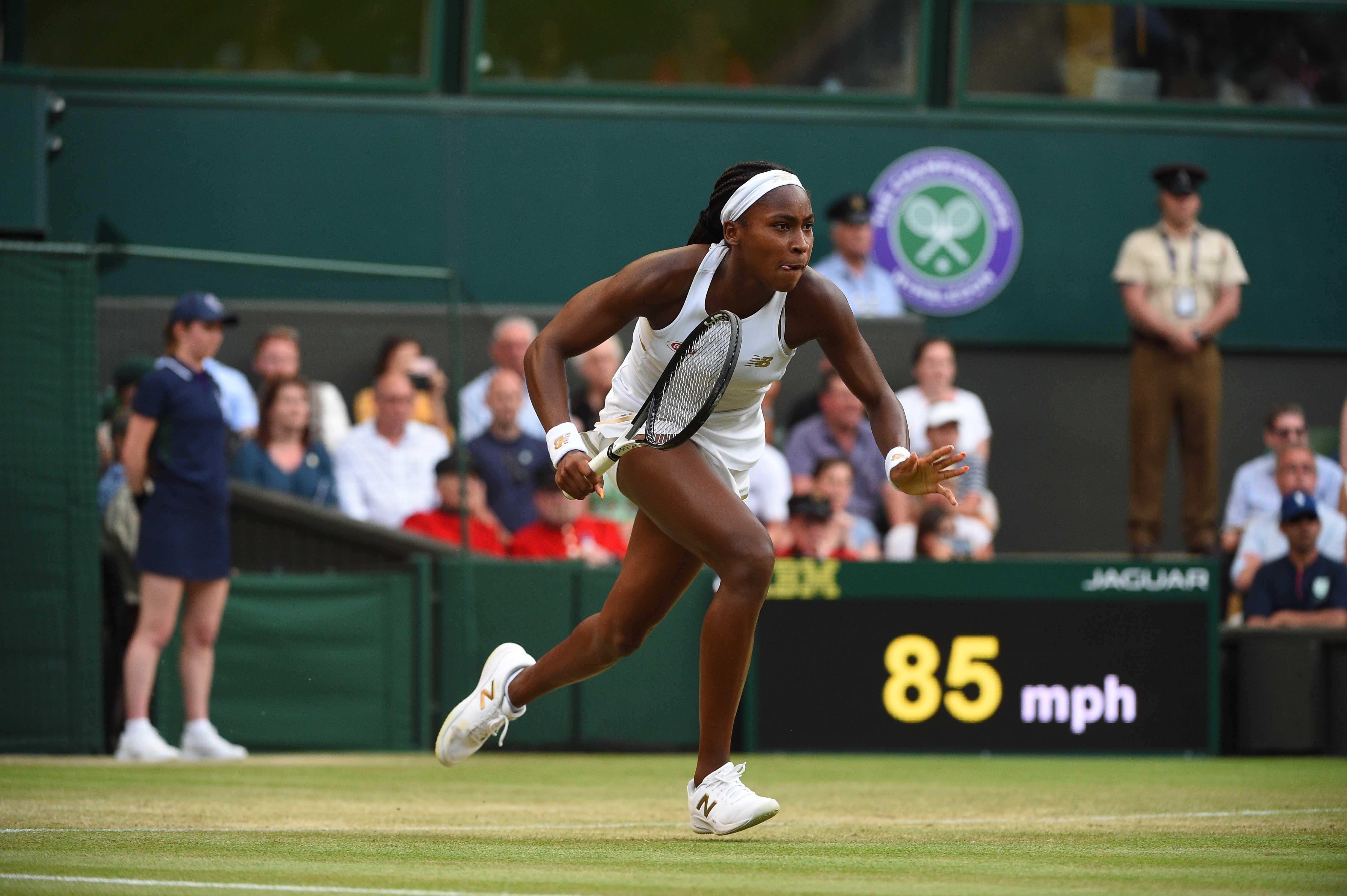 Cori Gauff running for a shot at Wimbledon 2019