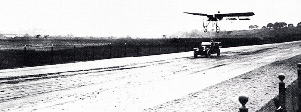 Roland Garros aviateur course avion-auto - Moisant.