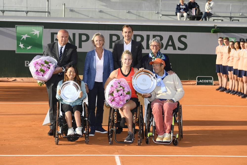 Diede de Groot bat Yui Kamiji simple femmes tennis fauteuil Roland-Garros 2019