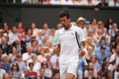 Novak Djokovic in Wimbledon 2018 semi-final.