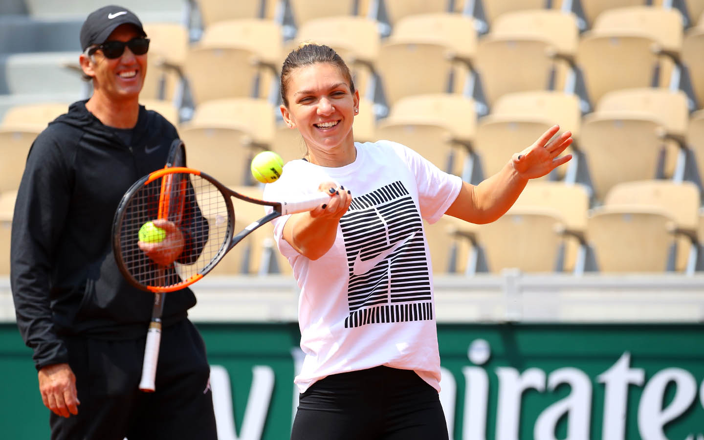 Simona Halep Darren Cahill Roland-Garros  entraînement training