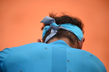 Rafael Nadal's back during Roland-Garros 2018