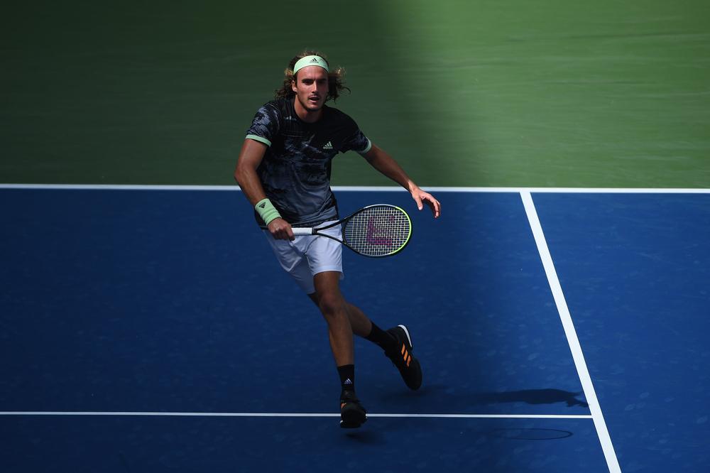 Stefanos Tsitsipas during the 2019 US Open