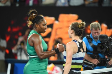 Handshake between Serena Williams and Serena Williams at the Australian Open 2019