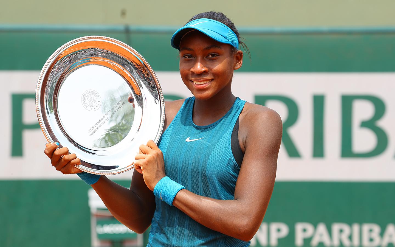Simple juniors filles, Cori Gauff, Roland-Garros 2018