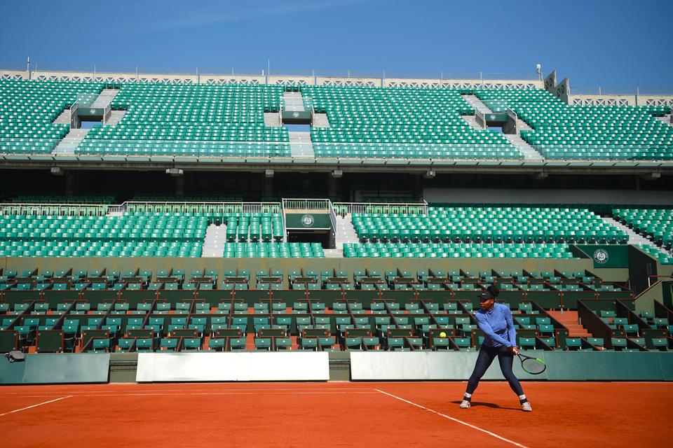 Serena Williams practice entraînement Roland-Garros 2018